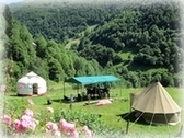 Yurt and tipi as guestroom